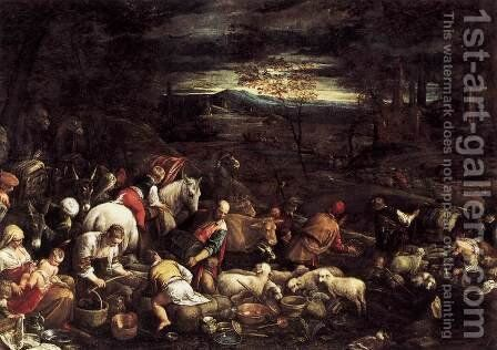 Return of Jacob with His Family by Jacopo Bassano (Jacopo da Ponte) - Reproduction Oil Painting