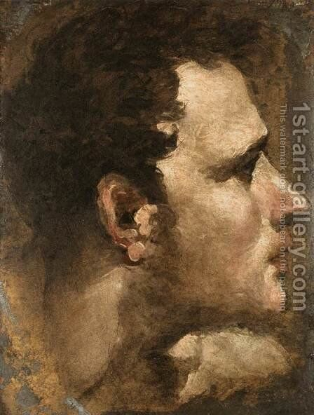 Head of a Youth Seen in Profile by Domenico Beccafumi - Reproduction Oil Painting