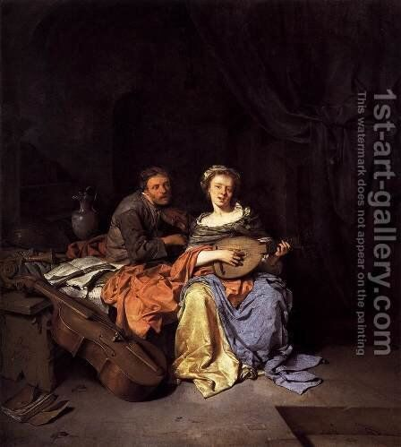 The Duet 2 by Cornelis (Pietersz.) Bega - Reproduction Oil Painting