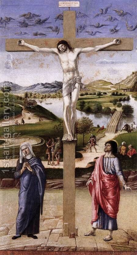 Crucifix by Giovanni Bellini - Reproduction Oil Painting