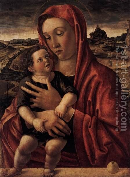 Madonna, with Child Standing on a Parapet by Giovanni Bellini - Reproduction Oil Painting