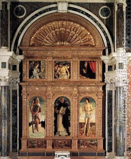Polyptych of San Vincenzo Ferreri by Giovanni Bellini - Reproduction Oil Painting