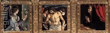Polyptych of San Vincenzo Ferreri (detail) by Giovanni Bellini - Reproduction Oil Painting