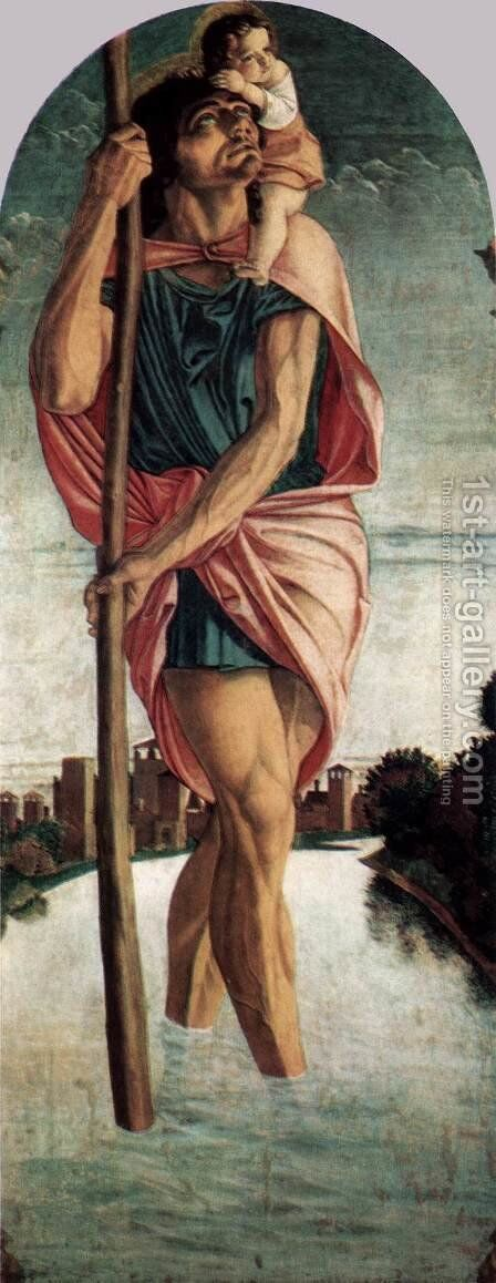 Polyptych of San Vincenzo Ferreri (left panel) by Giovanni Bellini - Reproduction Oil Painting