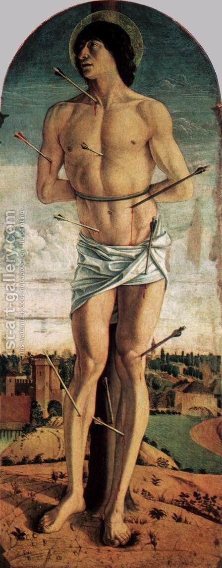 Polyptych of San Vincenzo Ferreri (right panel) by Giovanni Bellini - Reproduction Oil Painting