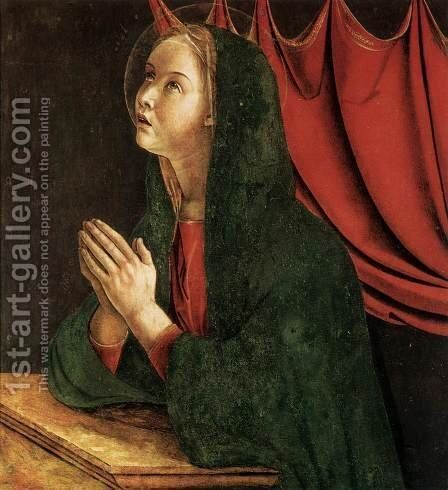 Polyptych of San Vincenzo Ferreri (detail) 7 by Giovanni Bellini - Reproduction Oil Painting