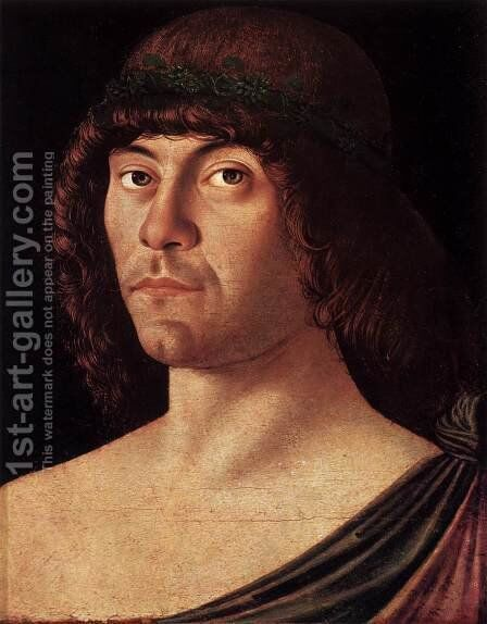 Portrait of a Humanist by Giovanni Bellini - Reproduction Oil Painting