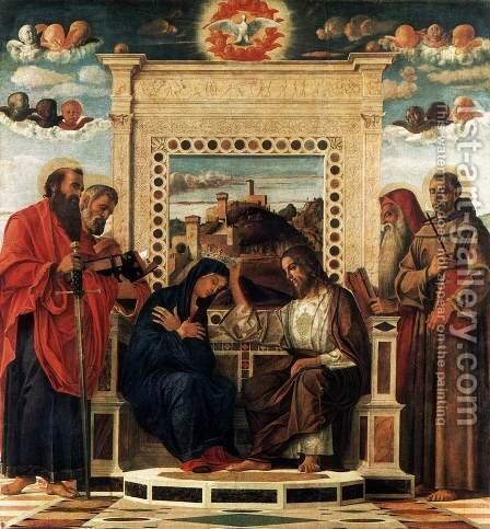 Pesaro Altarpiece by Giovanni Bellini - Reproduction Oil Painting