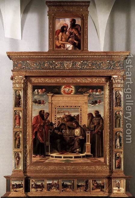 Pesaro Altarpiece 2 by Giovanni Bellini - Reproduction Oil Painting