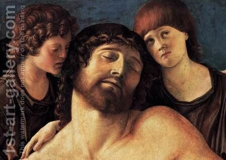 Dead Christ Supported by Two Angels (detail) 2 by Giovanni Bellini - Reproduction Oil Painting