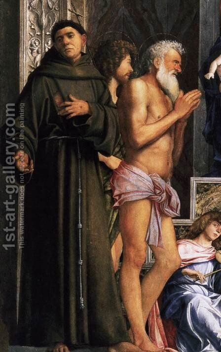 San Giobbe Altarpiece (detail) 3 by Giovanni Bellini - Reproduction Oil Painting