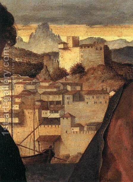 Madonna and Child with St John the Baptist and a Saint (detail) 3 by Giovanni Bellini - Reproduction Oil Painting