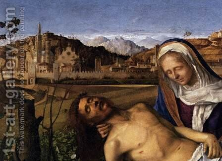 Pieta (detail) 2 by Giovanni Bellini - Reproduction Oil Painting