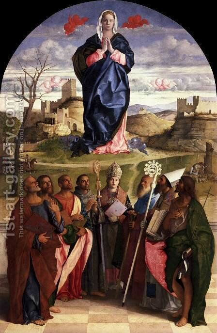 Virgin in Glory with Saints by Giovanni Bellini - Reproduction Oil Painting