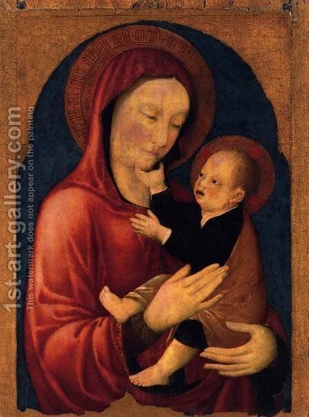 Viirgin and Child by Jacopo Bellini - Reproduction Oil Painting
