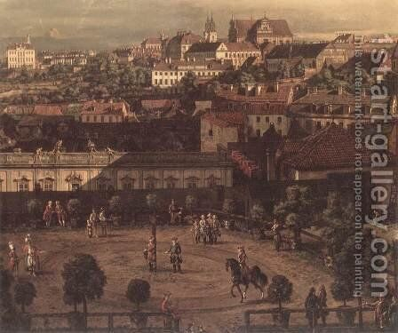 View of Warsaw from the Royal Palace (detail) 2 by Bernardo Bellotto (Canaletto) - Reproduction Oil Painting