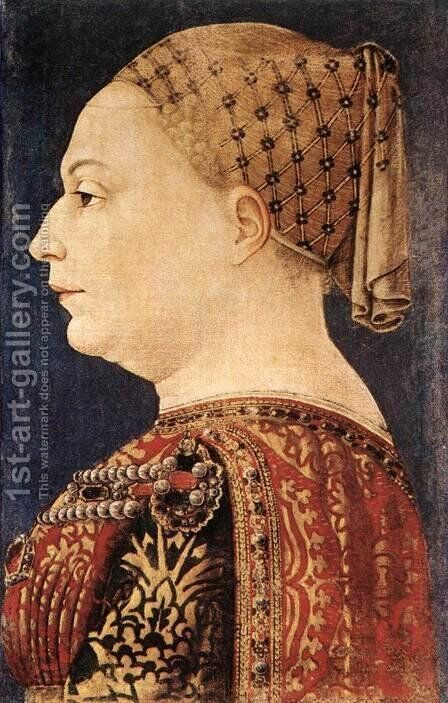 Portrait of Bianca Maria Sforza by Bonifazio Bembo - Reproduction Oil Painting