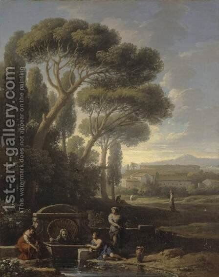 Italian Landscape by Jan Frans van Orizzonte (see Bloemen) - Reproduction Oil Painting