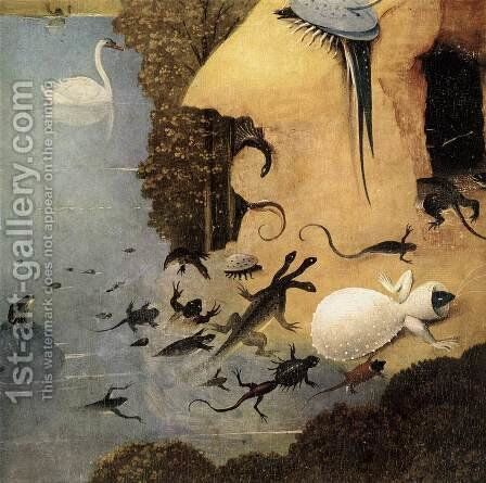 Triptych of Garden of Earthly Delights (detail) by Hieronymous Bosch - Reproduction Oil Painting
