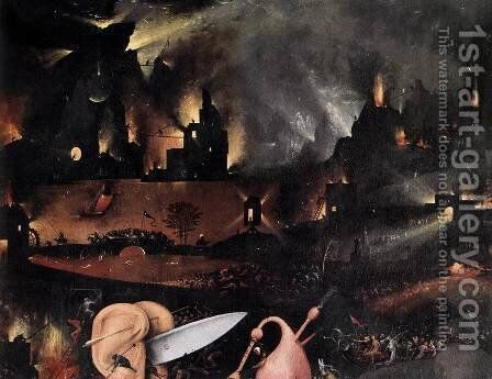 Triptych of Garden of Earthly Delights (detail) 5 by Hieronymous Bosch - Reproduction Oil Painting
