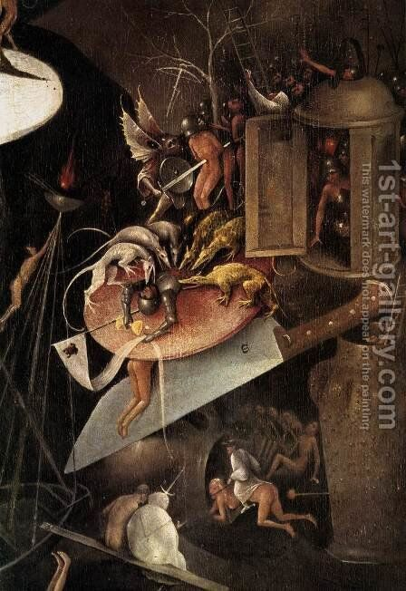 Triptych of Garden of Earthly Delights (detail) 7 by Hieronymous Bosch - Reproduction Oil Painting