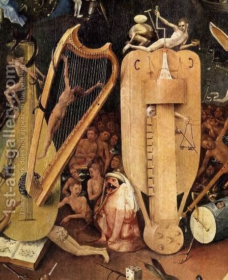 Triptych of Garden of Earthly Delights (detail) 8 by Hieronymous Bosch - Reproduction Oil Painting