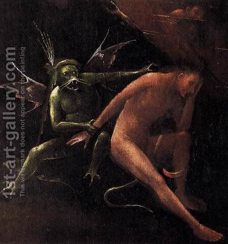 Hell (detail) 2 by Hieronymous Bosch - Reproduction Oil Painting