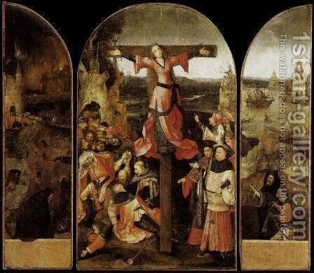 Triptych of the Martyrdom of St Liberata by Hieronymous Bosch - Reproduction Oil Painting