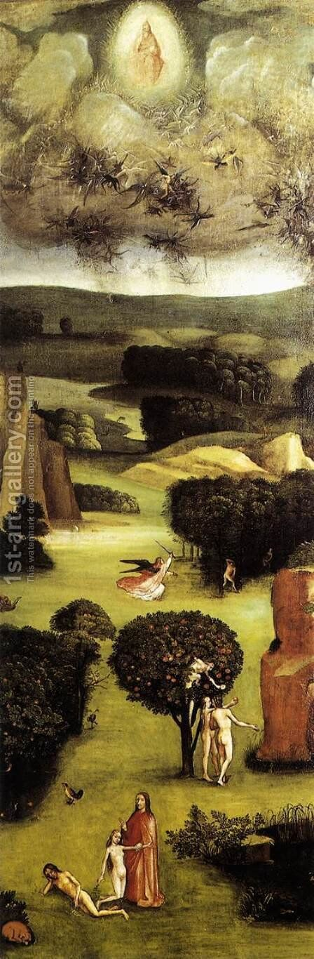 Triptych of Last Judgement (left wing) 2 by Hieronymous Bosch - Reproduction Oil Painting