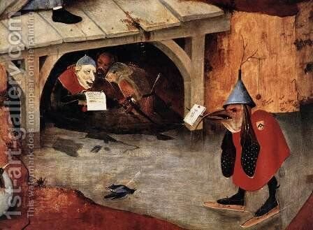 Triptych of Temptation of St Anthony (detail) 9 by Hieronymous Bosch - Reproduction Oil Painting
