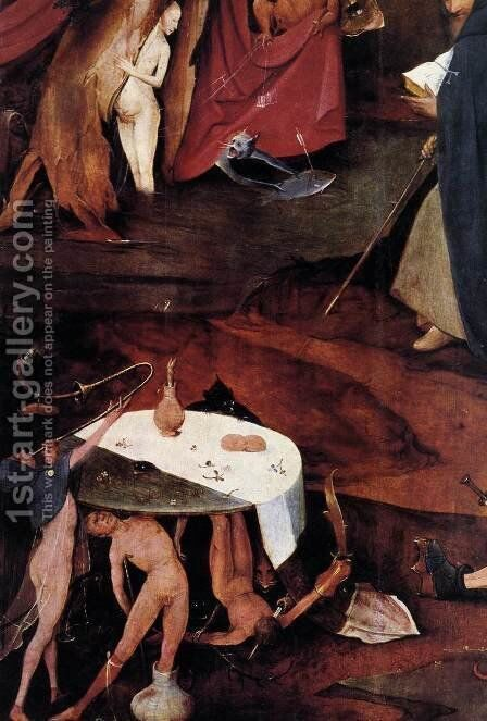 Triptych of Temptation of St Anthony (detail) 14 by Hieronymous Bosch - Reproduction Oil Painting