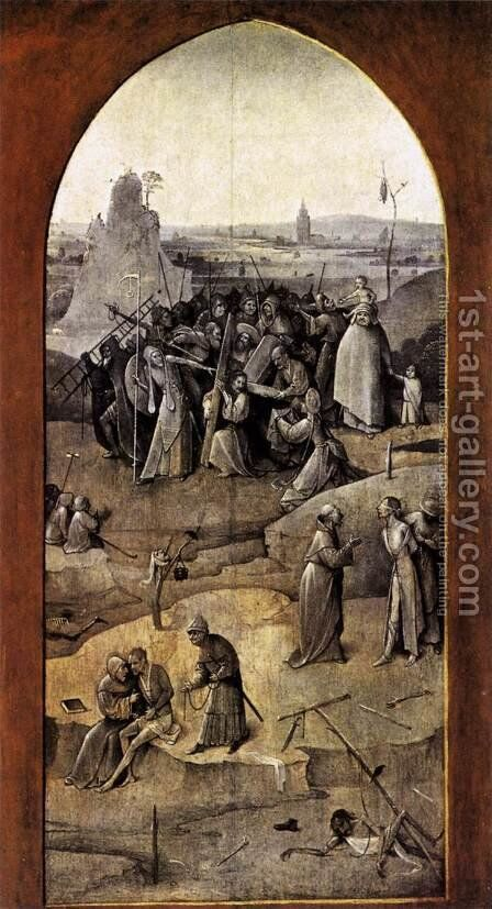 Triptych of Temptation of St Anthony (outer right wing) 2 by Hieronymous Bosch - Reproduction Oil Painting