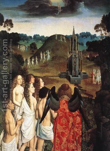 The Way to Paradise (detail) by Dieric the Elder Bouts - Reproduction Oil Painting