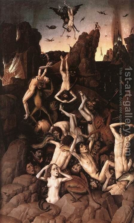 Hell 2 by Dieric the Elder Bouts - Reproduction Oil Painting