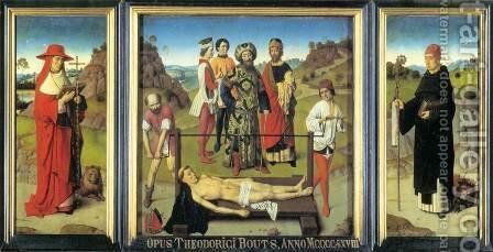 Martyrdom of St Erasmus (triptych) 2 by Dieric the Elder Bouts - Reproduction Oil Painting