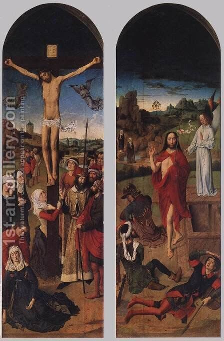 Passion Altarpiece (side wings) 2 by Dieric the Elder Bouts - Reproduction Oil Painting