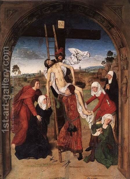 Passion Altarpiece (central) by Dieric the Elder Bouts - Reproduction Oil Painting