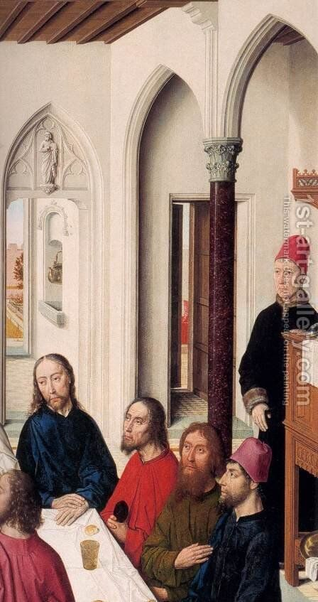 The Last Supper (detail) 2 by Dieric the Elder Bouts - Reproduction Oil Painting