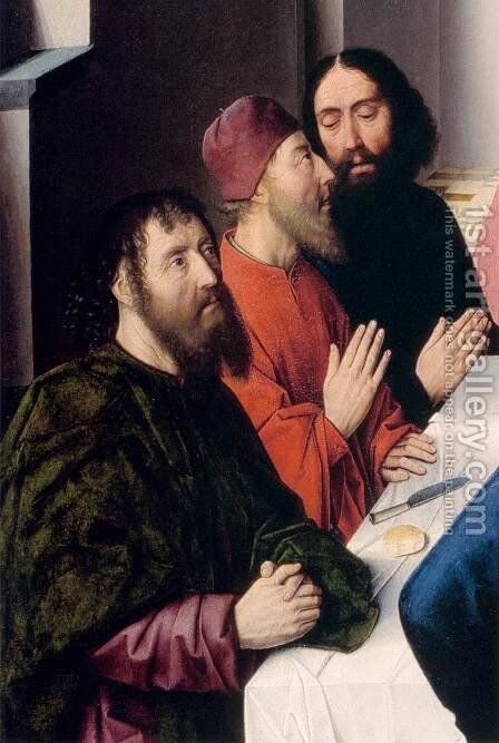 The Last Supper (detail) 3 by Dieric the Elder Bouts - Reproduction Oil Painting