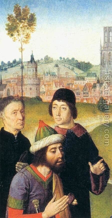 The Meeting of Abraham and Melchizedek (detail) by Dieric the Elder Bouts - Reproduction Oil Painting