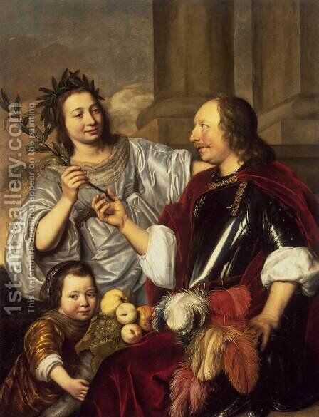 Allegorical Family Portrait by Jan De Bray - Reproduction Oil Painting