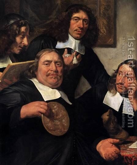 The Governors of the Guild of St Luke, Haarlem (detail) by Jan De Bray - Reproduction Oil Painting