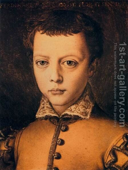 Ferdinando de' Medici by Agnolo Bronzino - Reproduction Oil Painting