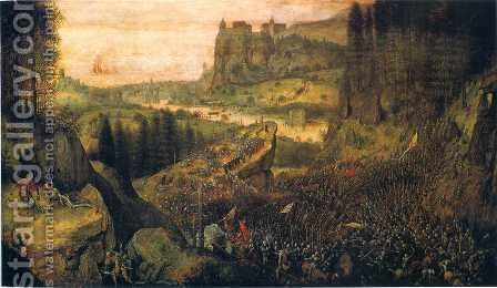 The Suicide of Saul by Pieter the Elder Bruegel - Reproduction Oil Painting
