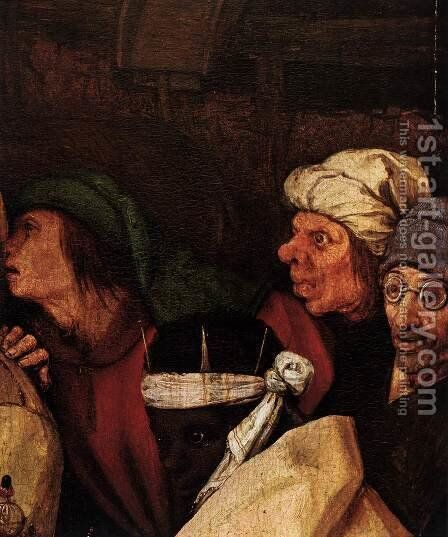 The Adoration of the Kings (detail) 4 by Pieter the Elder Bruegel - Reproduction Oil Painting