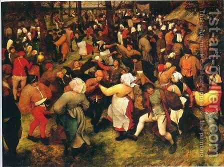 Wedding Dance in the Open Air by Pieter the Elder Bruegel - Reproduction Oil Painting