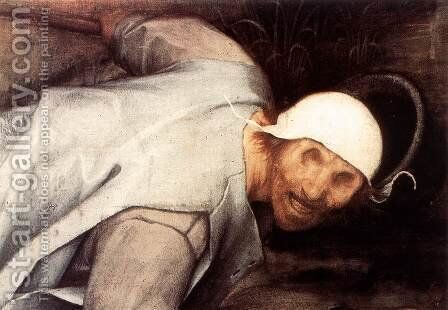 The Parable of the Blind Leading the Blind (detail) 3 by Pieter the Elder Bruegel - Reproduction Oil Painting