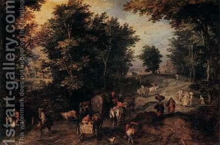 The Caravan by Jan The Elder Brueghel - Reproduction Oil Painting