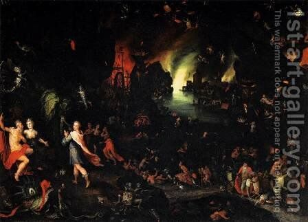 Orpheus in the Underworld by Jan The Elder Brueghel - Reproduction Oil Painting
