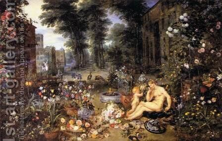 The Sense of Smell by Jan The Elder Brueghel - Reproduction Oil Painting